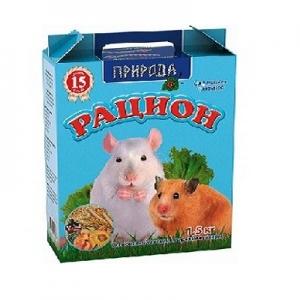 Рацион для мелких грызунов, 1,5 кг.